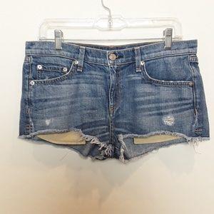 Rag & bone | Distressed cutoff Jean shorts sz 28